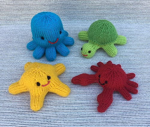 Little Sea Creatures Free Knitting Pattern Knitting Bee