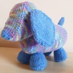 Luis The Long Puppy Free Knitting Pattern, free toy knitting pattern, dog knit pattern, animal knitting pattern