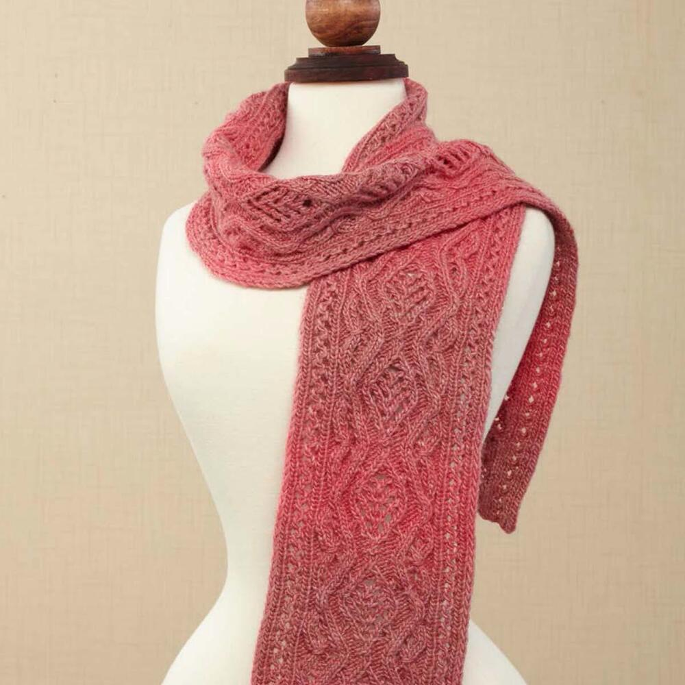 Free Free cable and lace scarf knitting pattern Patterns ⋆ Knitting ...