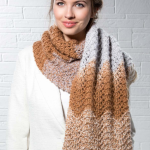 Mocha Ripple Scarf Free Knitting Pattern Download. free scarf knit patterns, intermediate knitting pattern