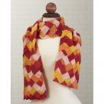 Oahu Scarf Free Download - Entrelac Scarf Free Knitting Pattern. scarf knit pattern, entrelac technique