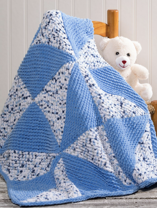 Free Knitted Cup Cozy Pattern : Pinwheel Baby Blanket Free Knitting Pattern Download ? Knitting Bee