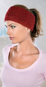 Pretty Lace Headband free knitting pattern