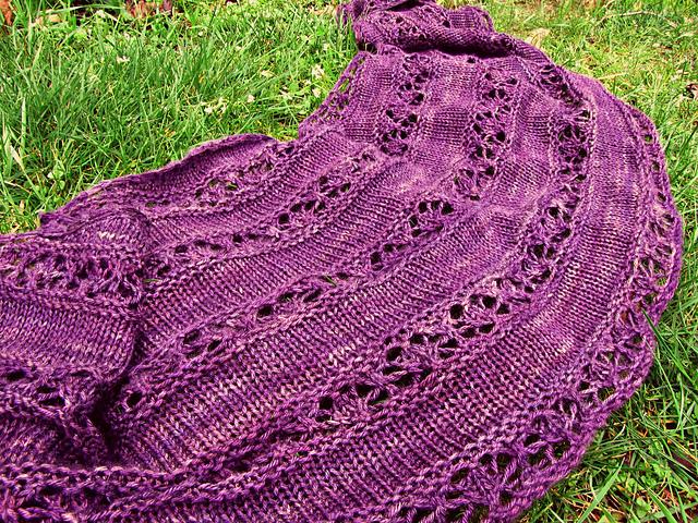 Serenity Free Knitting Pattern. Free knitting pattern for a lace shawl/shrug.