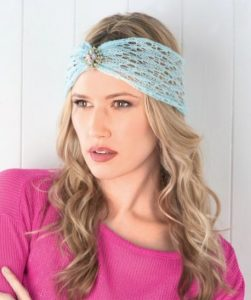 Simple Lace Headband free knit pattern
