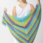 Simply Stripy Shawl Free and Easy Knitting Pattern Download. Easy shawl knitting pattern.