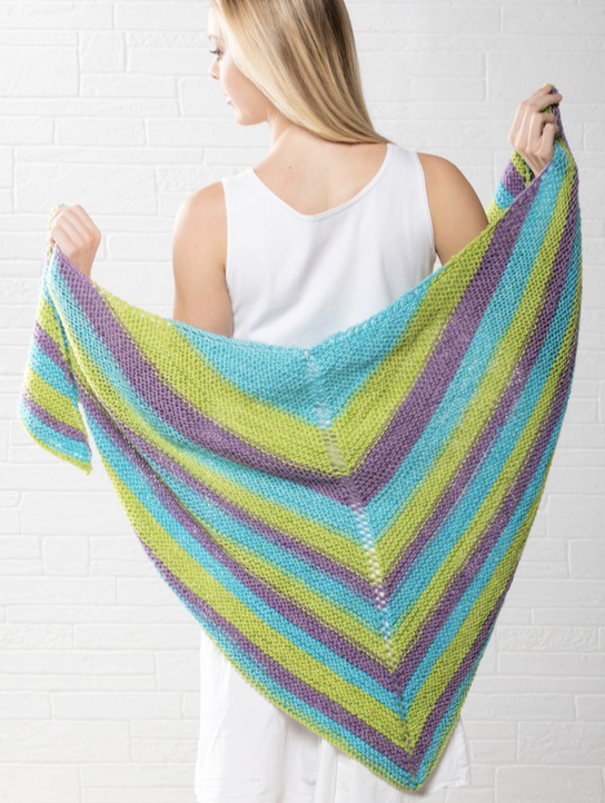 Free Free Striped Shawl Knitting Pattern Patterns Knitting Bee