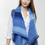Sky Shades Vest Free Knitting Pattern Download. Free easy vest knit pattern. women's vest pattern knit