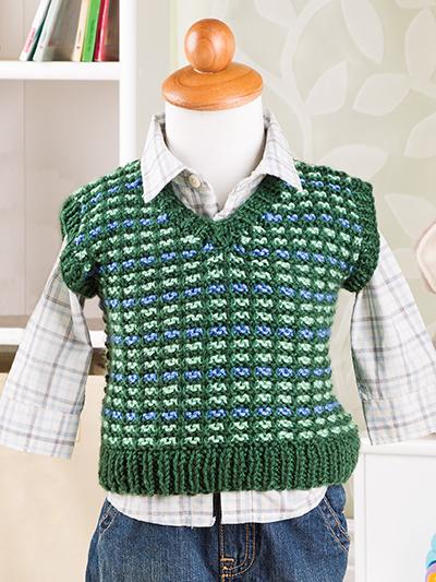 Slip Stitch Vest Free Knitting Pattern