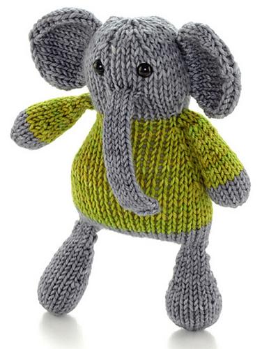 Small-Peanuts Elephant ⋆ Knitting Bee