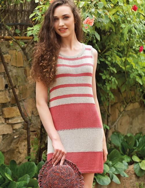 Striped Knit Dress Download - Free Knitting Pattern ...