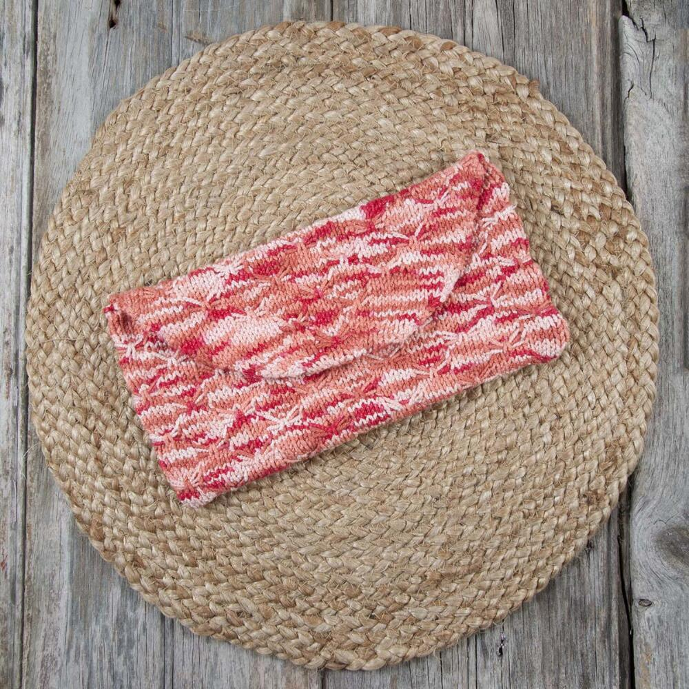 Sunrise Clutch Free Download Knit Pattern. knitting pattern for a purse/clutch