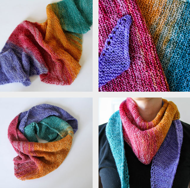 Super Simple Sock Shawl - free pattern