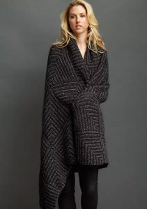 The Mitre Blanket Free Knitting Pattern. Free knitting pattern to download for a warm and modern styled mitred square blanket.