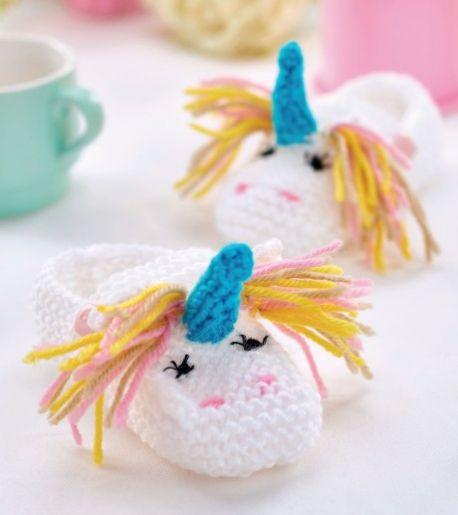 Unicorn Toy & Bootees Free Knitting Pattern