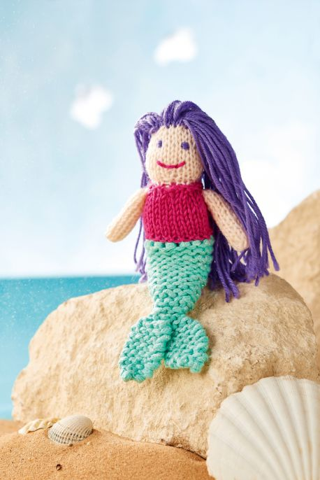 Violet the Mermaid Free Knitting Pattern
