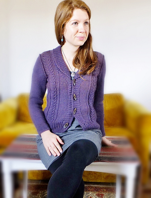 Wisteria Free Cardigan Knitting Pattern