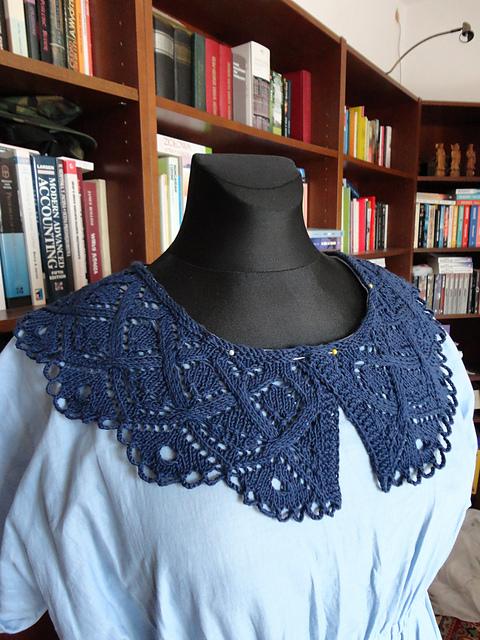 Collar and Cuff Set Free Knitting Pattern