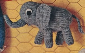 vintage toy elephant knitting pattern