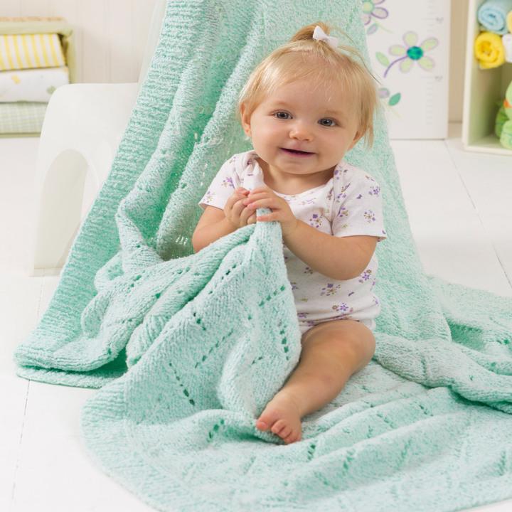 Soft & Snuggly Baby Blanket Free Knitting Pattern