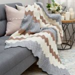 Calming Colors Chevron Throw Free Knitting Pattern Download
