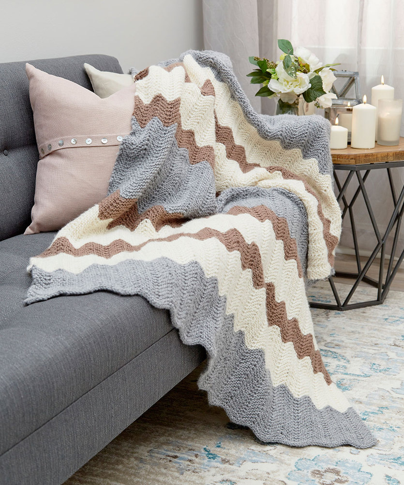 Free free knitting pattern for a ripple stitch blanket patterns calming colors chevron throw free knitting pattern download bankloansurffo Image collections
