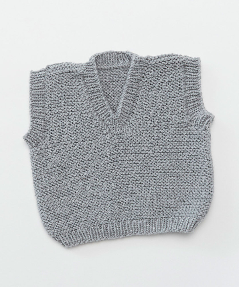 Baby's Play Vest Free and Easy Knitting Pattern ⋆ Knitting Bee