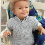 Baby's Play Vest Free and Easy Knitting Pattern