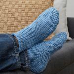 Time-Off Slipper Socks Free Knitting Pattern