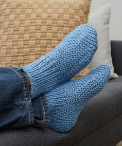 Time-Off Slipper Socks Free Knitting Pattern