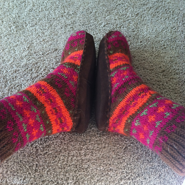Adirondacks Slipper Socks Fairisle Free Knitting Pattern ...