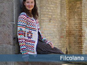 Aiyana A Colorful Fair Isle Cardigan Knitting Pattern