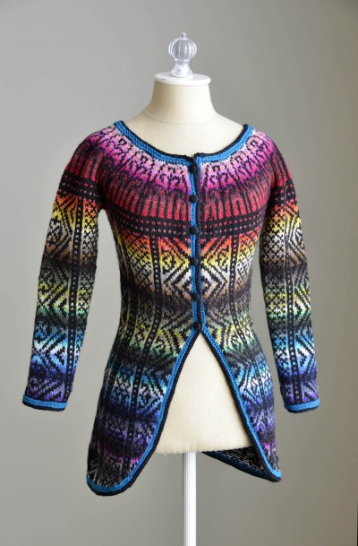 All Colors Sweater Fair Isle Sweater Jacket Free Knitting Pattern
