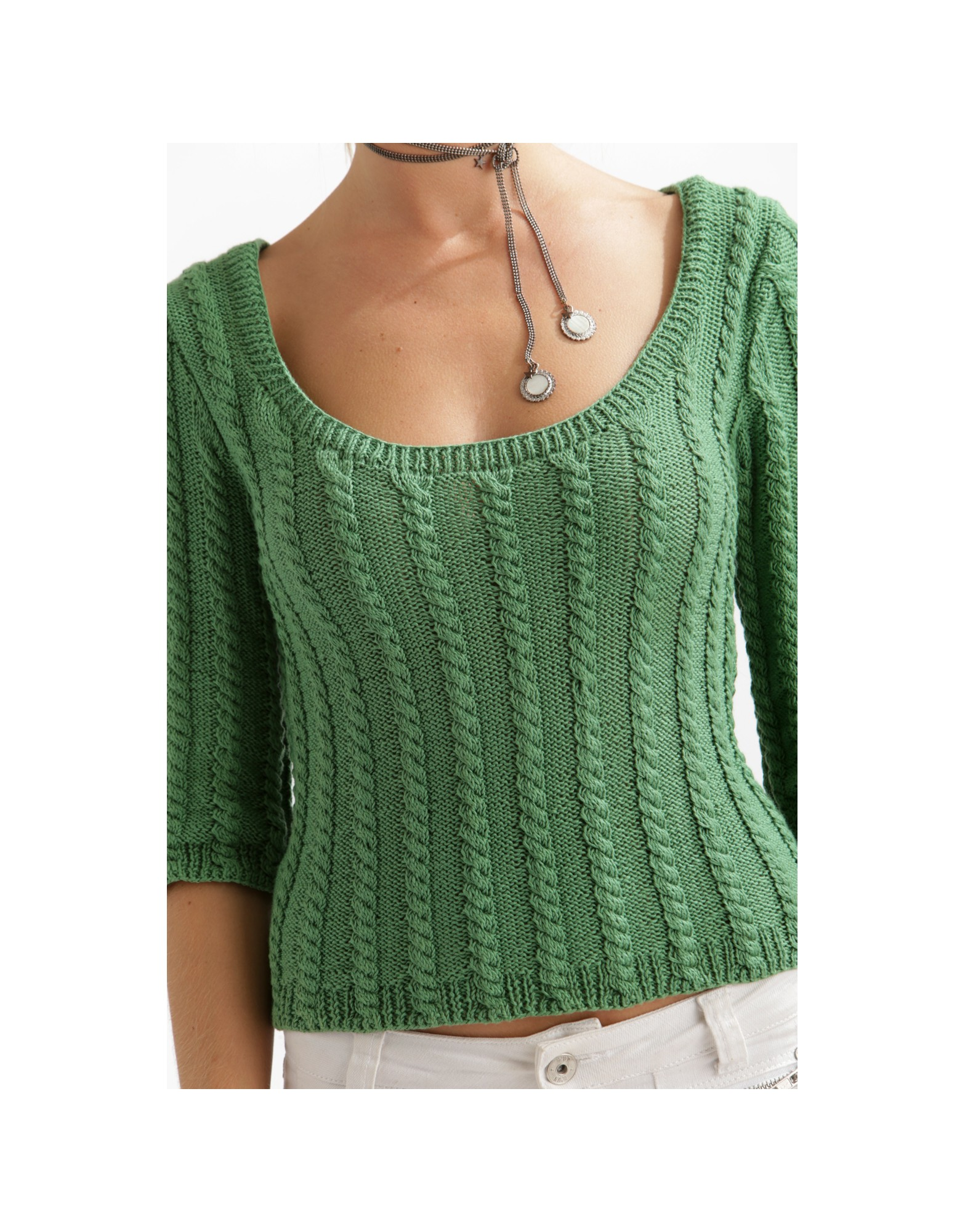 Ambre Cabled Sweater Free Knitting Pattern Download