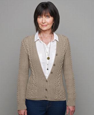 Aran Cardigan Free Patons Knitting Pattern
