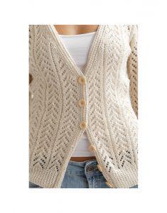 Arrow Lace Cardigan Free Knitting Pattern for Women - Free Download