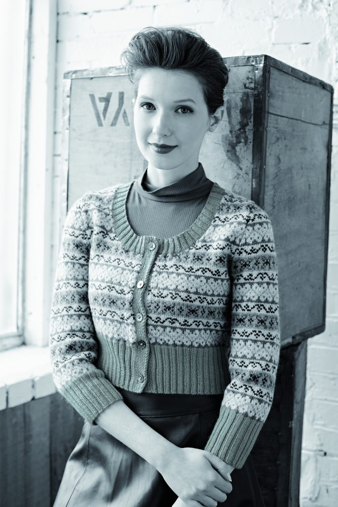 a5e9fef949be Asbury Fairisle Cropped Cardigan Free Knitting Pattern ⋆ Knitting Bee