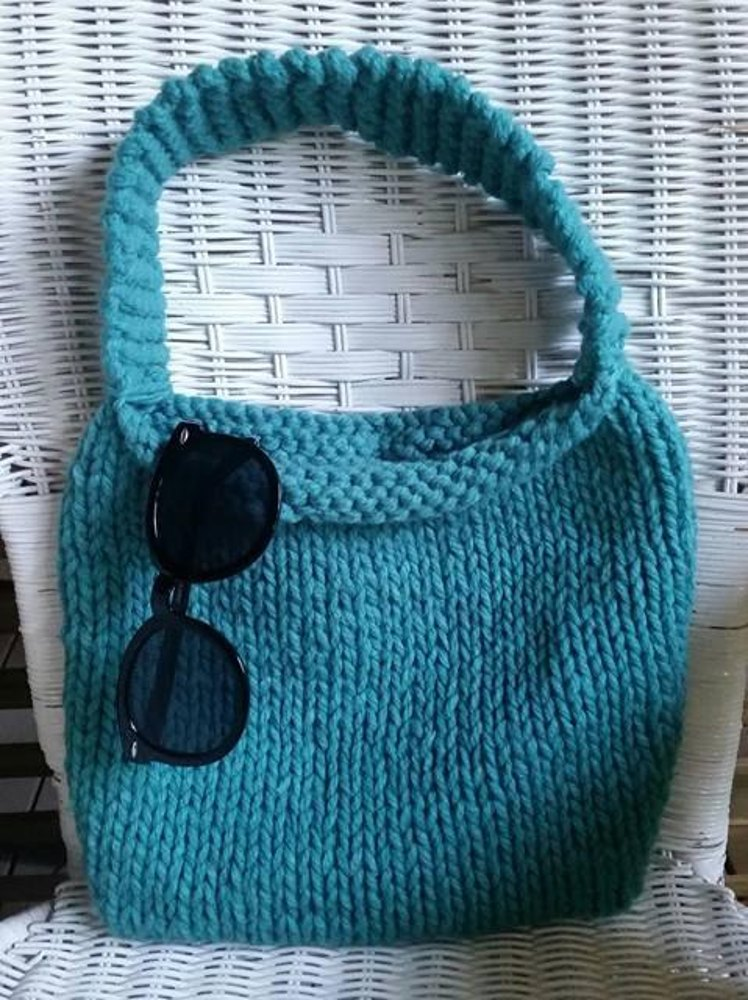 Beginner Knitted Bag Free Pattern