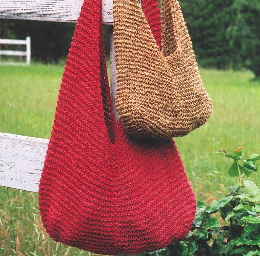 Beginner bag knitting pattern ⋆ Knitting Bee