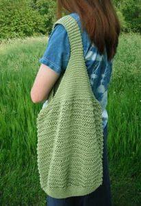 Beginner market bag knitting pattern