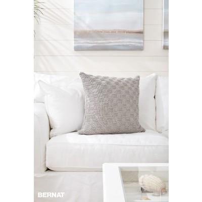 Bernat Beachside Knit Pillow Free Pattern Knitting Bee