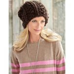 Bernat Big Textures Hat free easy pattern to knit for beginners