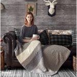 Bernat Hiberknit Knit Blanket Free Pattern