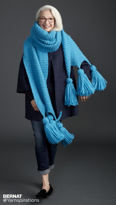 Bernat Keeping It Simple Knit Super Scarf