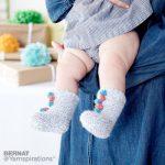 Bernat Knit Baby Circus Socks Free Pattern