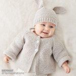 Bernat Knit Baby Jacket Set Free Pattern