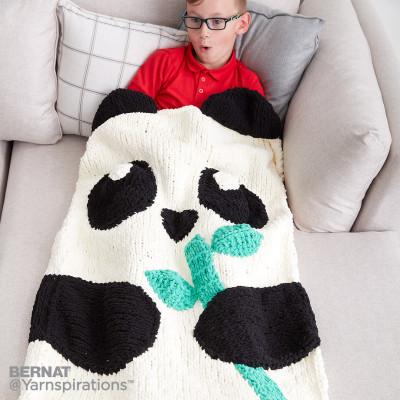 Bernat Knit Panda Bear Snuggle Sack Free Pattern Knitting Bee