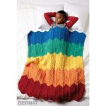 Bernat Rainbow Ripple Blanket Free Knitting Pattern