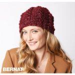 Bernat Shining Swirls Knit Hat Free Knitting Pattern