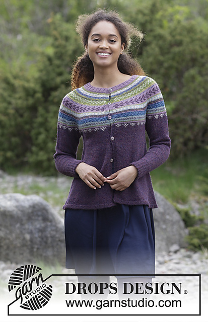 Blueberry Fizz Jacket Free Knitting Pattern